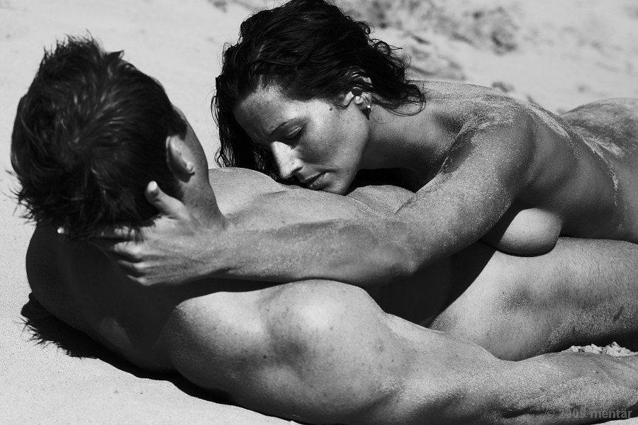 near outdor beach couple